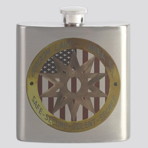 Area 51 SSSS Badge Flask