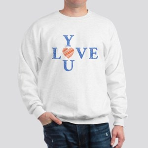 Love you with hand drawn letters Sweatshirt
