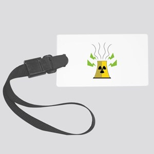 Nuke Plant Large Luggage Tag