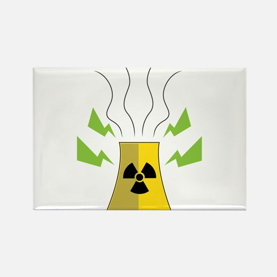 Nuke Plant Rectangle Magnet