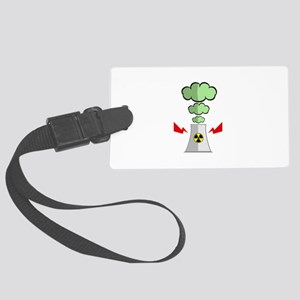 Nuke Plant Radiation Large Luggage Tag