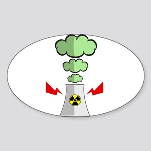 Nuke Plant Radiation Sticker (Oval)