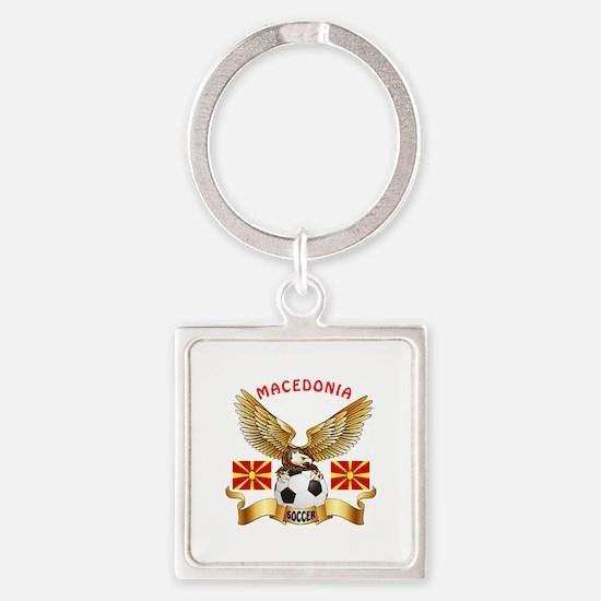 Macedonia Football Design Square Keychain