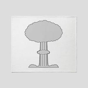Atomic Bomb Mushroom Cloud Throw Blanket