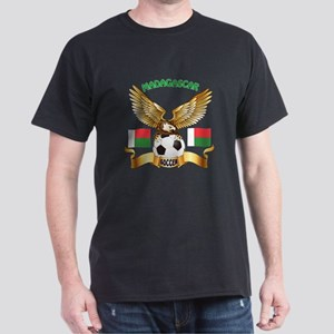 Madagascar Football Design Dark T-Shirt