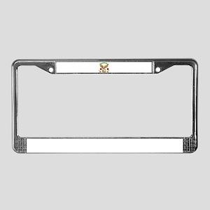 Madagascar Football Design License Plate Frame