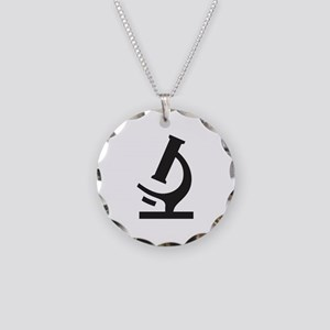 Microscope Necklace Circle Charm