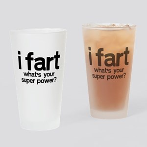 iFart What's Your SuperPower? Drinking Glass