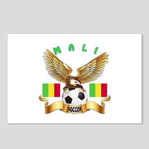 Mali Football Design Postcards (Package of 8)