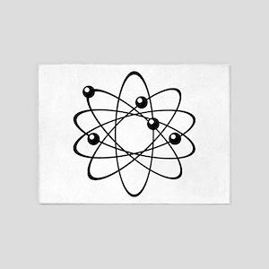 Atom Diagram Model 5'x7'Area Rug