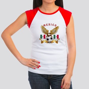 Mexico Football Design Women's Cap Sleeve T-Shirt
