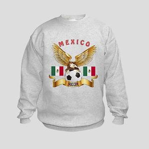 Mexico Football Design Kids Sweatshirt