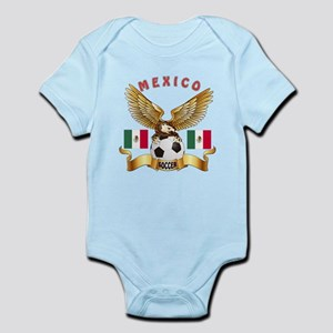 Mexico Football Design Infant Bodysuit