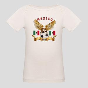 Mexico Football Design Organic Baby T-Shirt