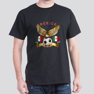 Mexico Football Design Dark T-Shirt