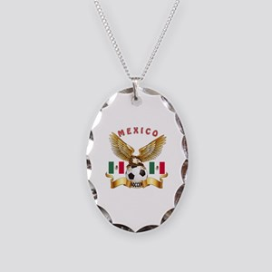 Mexico Football Design Necklace Oval Charm