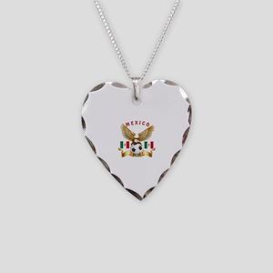 Mexico Football Design Necklace Heart Charm