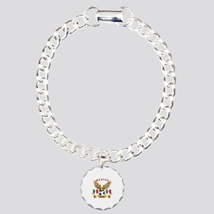 Mexico Football Design Charm Bracelet, One Charm