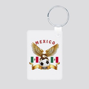 Mexico Football Design Aluminum Photo Keychain