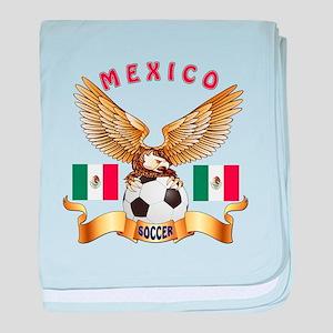 Mexico Football Design baby blanket