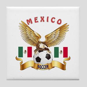 Mexico Football Design Tile Coaster