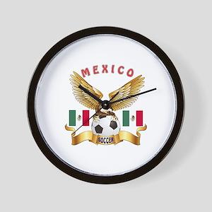 Mexico Football Design Wall Clock