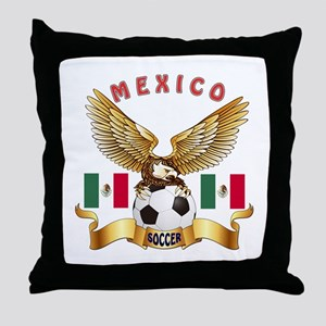 Mexico Football Design Throw Pillow