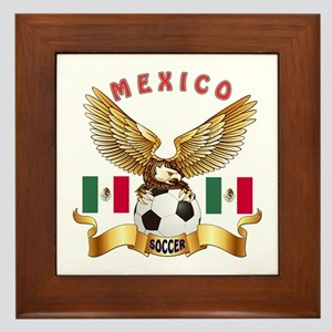 Mexico Football Design Framed Tile