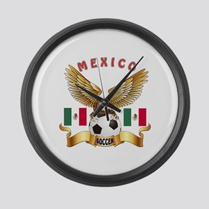Mexico Football Design Large Wall Clock