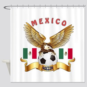 Mexico Football Design Shower Curtain