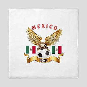 Mexico Football Design Queen Duvet