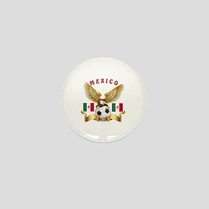 Mexico Football Design Mini Button