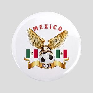 """Mexico Football Design 3.5"""" Button"""
