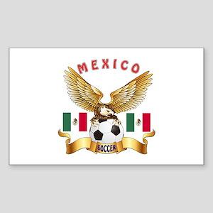 Mexico Football Design Sticker (Rectangle)