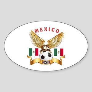 Mexico Football Design Sticker (Oval)