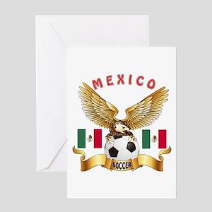 Mexico Football Design Greeting Card