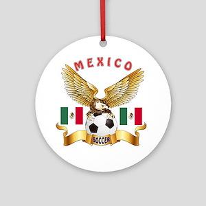 Mexico Football Design Ornament (Round)