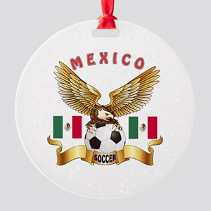 Mexico Football Design Round Ornament