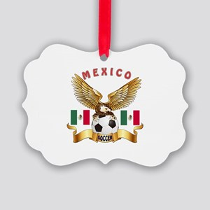 Mexico Football Design Picture Ornament