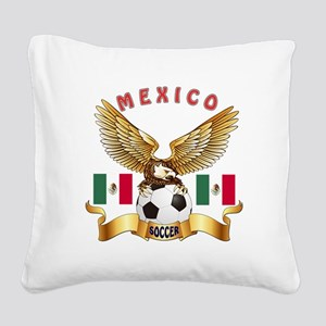Mexico Football Design Square Canvas Pillow