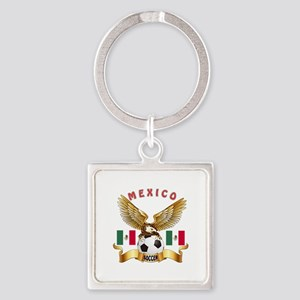 Mexico Football Design Square Keychain