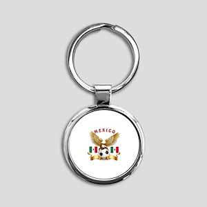 Mexico Football Design Round Keychain