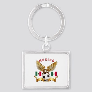 Mexico Football Design Landscape Keychain