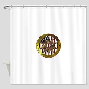 Area 51 SSSS Badge Shower Curtain