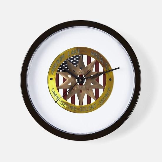 Area 51 SSSS Badge Wall Clock