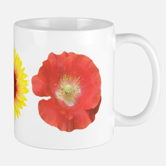 Three Flowers - Warm Colors Mug