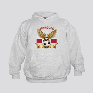Morocco Football Design Kids Hoodie
