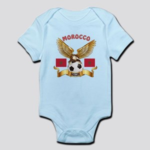 Morocco Football Design Infant Bodysuit