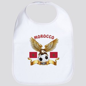 Morocco Football Design Bib