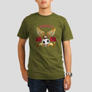 Morocco Football Design Organic Men's T-Shirt (dar